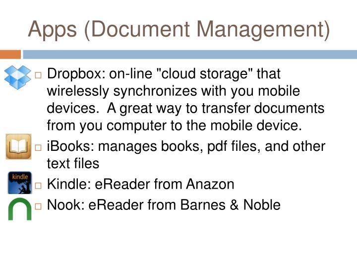 Apps (Document Management)