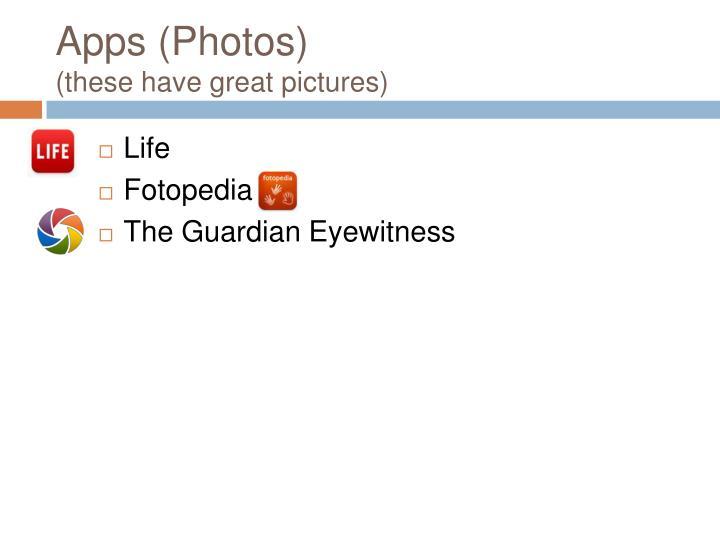 Apps (Photos)