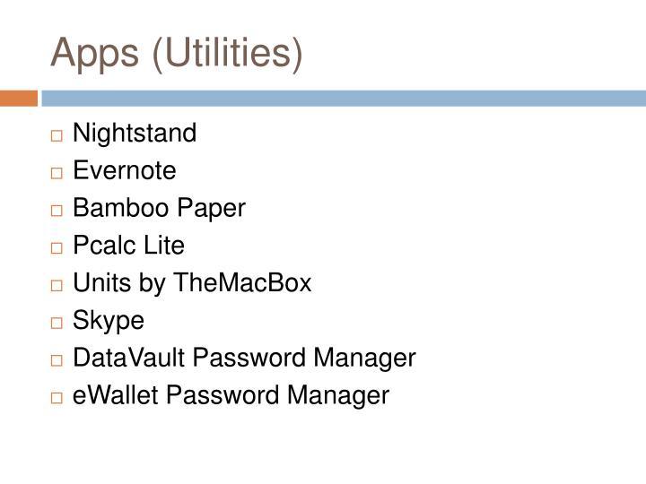 Apps (Utilities)