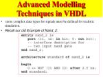 advanced modelling techniques in vhdl1