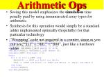arithmetic ops