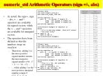 numeric std arithmetic operators sign abs