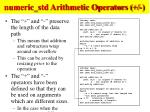numeric std arithmetic operators