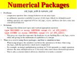 numerical packages