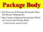 package body