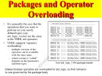 packages and operator overloading