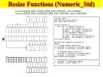 resize functions numeric std