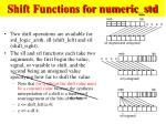shift functions for numeric std