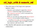 std logic arith numeric std