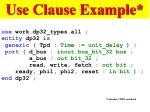 use clause example