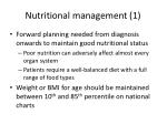 nutritional management 1