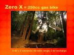 zero x 250cc gas bike