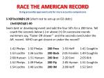 race the american record