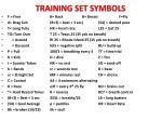 training set symbols