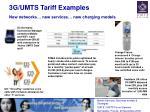 3g umts tariff examples