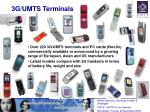 3g umts terminals