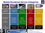 mobile broadcast service categories