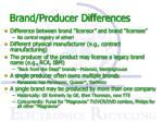 brand producer differences