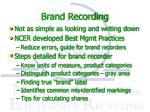brand recording1