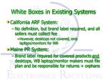 white boxes in existing systems
