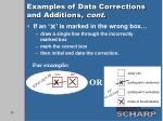 examples of data corrections and additions cont1