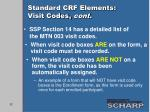 standard crf elements visit codes cont