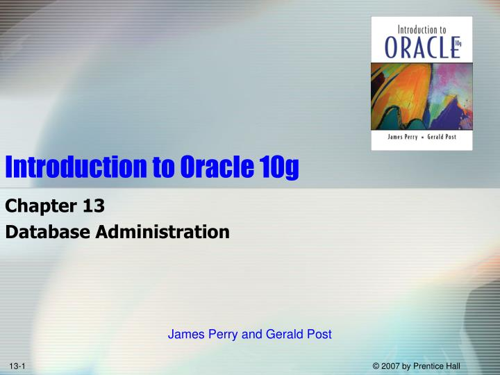 introduction to oracle 10g n.