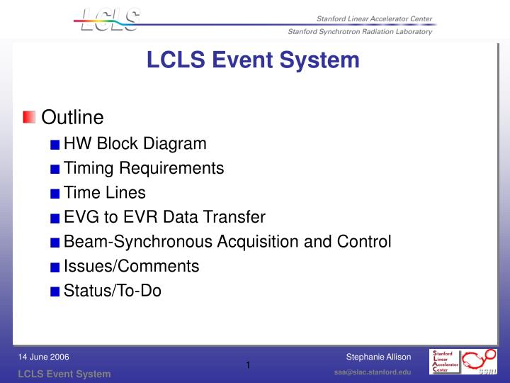 lcls event system n.