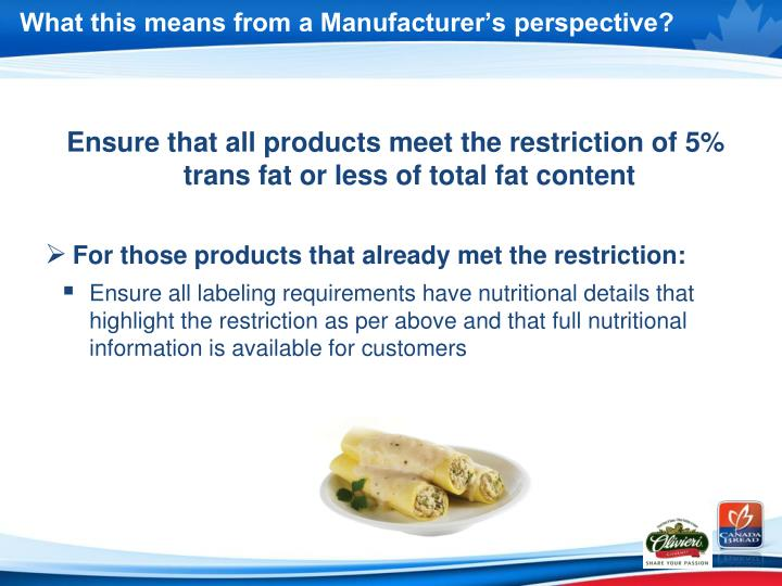 What this means from a Manufacturer's perspective?