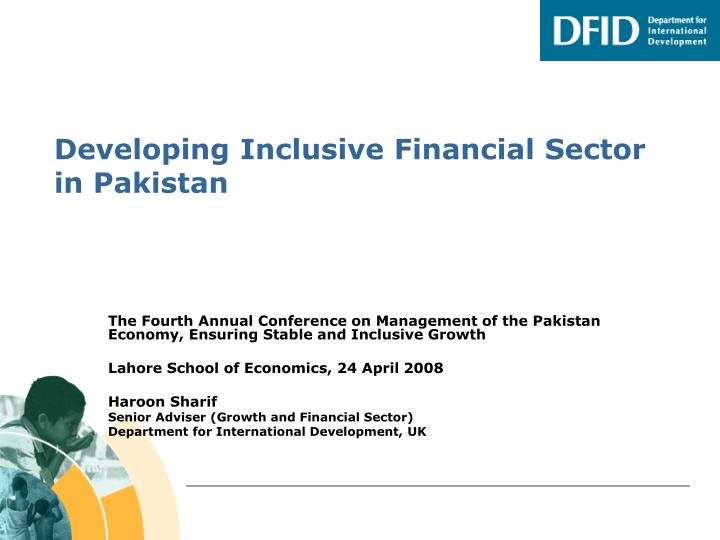 developing inclusive financial sector in pakistan n.
