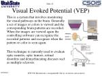 visual evoked potential vep