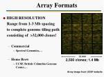 array formats1