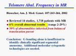 telomere abnl frequency in mr