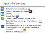 apps references