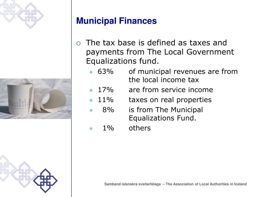 Municipal Finances