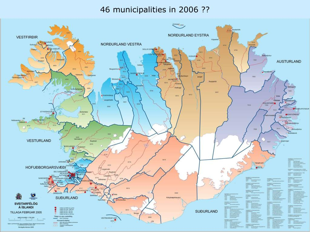 46 municipalities in 2006 ??