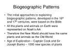 biogeographic patterns