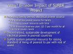 why broader impact of super project
