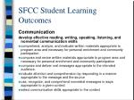 sfcc student learning outcomes