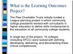 what is the learning outcomes project
