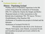 freshman seminar wk 2 history populating iceland