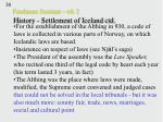 freshman seminar wk 2 history settlement of iceland ctd30
