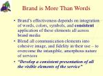 brand is more than words