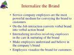 internalize the brand