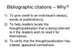 bibliographic citations why