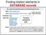 finding citation elements in database records1