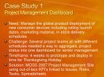case study 1 project management dashboard