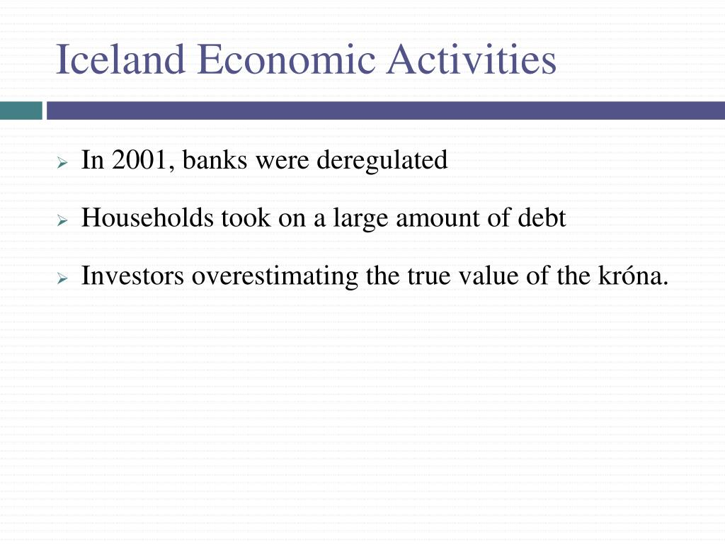 Iceland Economic Activities
