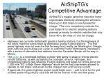 airshiptg s competitive advantage