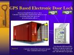 gps based electronic door lock